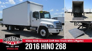 2016 HINO 268 - 24ft Box Truck With Liftgate | IP Truck
