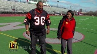 Ickey Woods teaches Jenell his famous shuffle