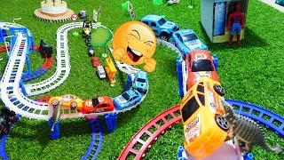 Toys Car For Kisd| There is a Dinosaurs Attack Train and Cars - Toys Kids Channel