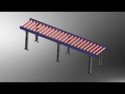 SolidWorks Tutorial -Sheet Metal Gravity Conveyor