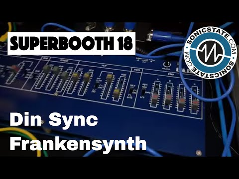 Superbooth 2018: Din Sync Gilbert Monosynth - A Frankensynth of Roland Flavours