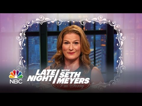Ana Gasteyer Apologizes to Martha Stewart  Late Night with Seth Meyers