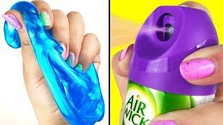 Как Сделать Лизун Без Натрия Тетрабората?/Слайм Из Освежителя Воздуха/Slime And AirWick