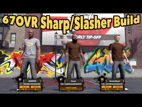 67 OVR Sharp:Slasher Build  | Daily Park Video No2 | NBA 2K18 My Park