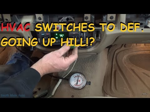 Mercury Grand Marquis - Switches To Defrost When Going Up Hill