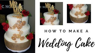 DIY: How to make a Glamorous Wedding Dummy Cake 💎💎