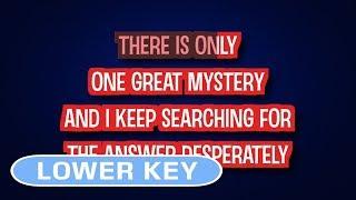 One Great Mystery - Lady Antebellum   Karaoke Lower Key