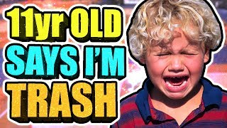 PSYCHOTIC 11 YEAR OLD KID CRIES AT THE STAGE • HE SAID I'M THE WORST 2K PLAYER EVER w/ NO IQ!!😱