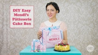 DIY Mendl's Patisserie Cake box - Easy! Make your own! - The Grand Budapest Hotel
