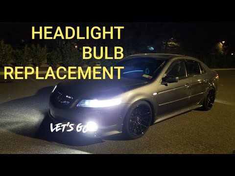 HOW TO REPLACE ACURA TL HEADLIGHT BULB TUTORIAL EASY