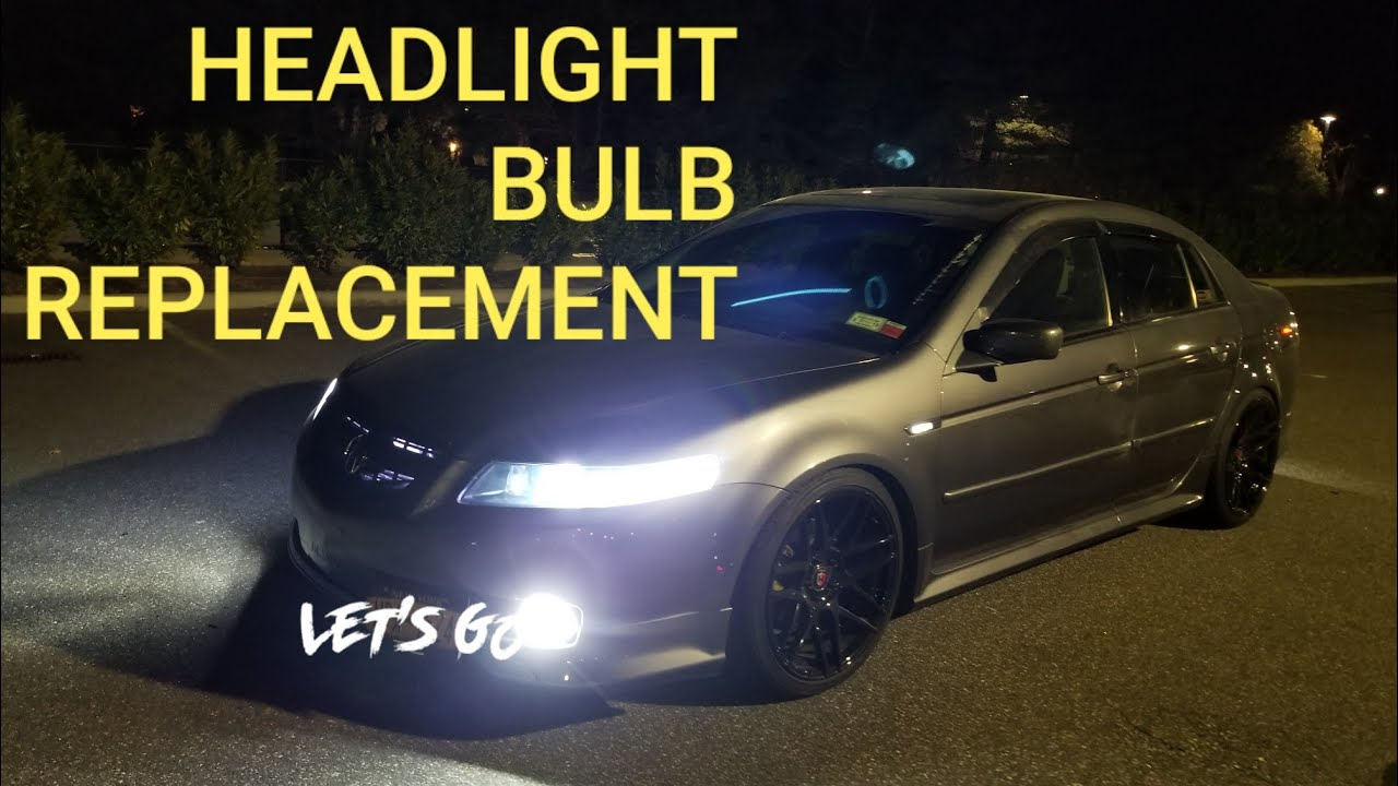 HOW TO REPLACE ACURA TL HEADLIGHT BULB TUTORIAL EASY YouTube - Acura tl headlight bulb