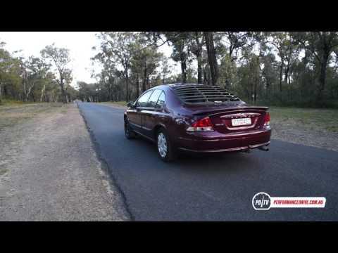 2000 Ford AU Falcon Forte LPG 0-100km/h & engine sound