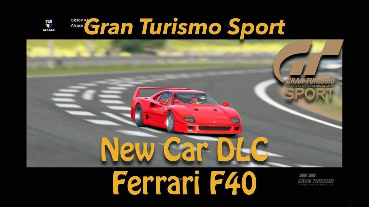 gran turismo sport new dlc car 1992 ferrari f40 youtube. Black Bedroom Furniture Sets. Home Design Ideas