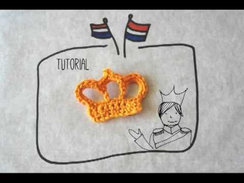 Tutorial Gehaakt Kroontje Voor Kroninginnesdag Youtube