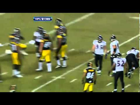 Cory Redding scores a TD as the only player reacting to a fumble (2010 Playoffs)