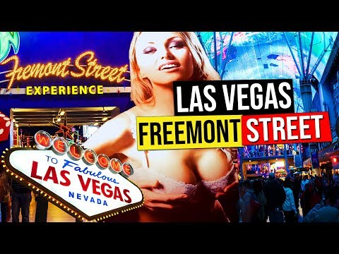 Fremont Street Experience at Night, Las Vegas (Nevada, USA.)