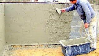 Budowa domu krok po kroku. Dzień 11 - Tynkowanie fundamentu. Kurs DVD pod filmem