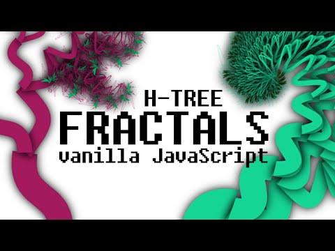 Drawing Fractal Trees HTML5 Canvas & Vanilla JavaScript Animation Tutorial For Beginners HTML CSS JS thumbnail