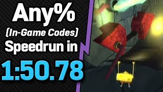 SS: Battle for Bikini Bottom Any% (In-Game Codes) Speedrun in 1:50.78 (WR on 11/9/2018)