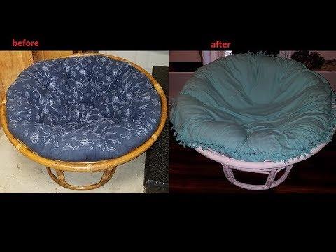 Diy No Sew Papasan Cushion Cover Domestic Ginger