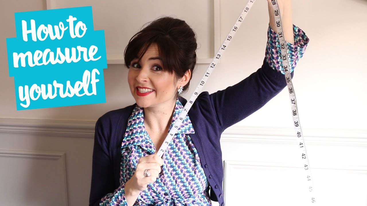 How To Measure Your Bust Waist And Hips For Dressmaking Youtube