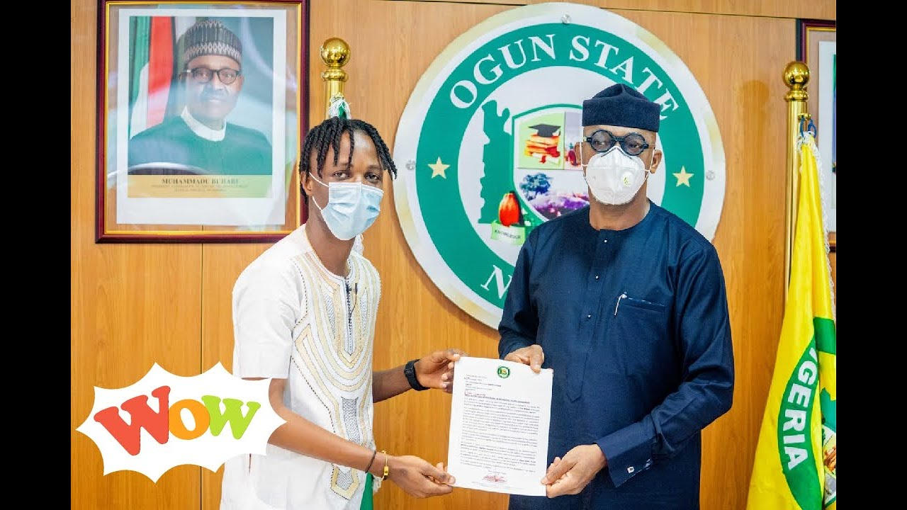 Laycon Appoint As Ogun State Youth Ambassador, Receives ₦5million And A 3-Bedroom House Gift