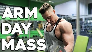 ARM workout MASS & SIZE / Old School Superset Training / Biceps Triceps