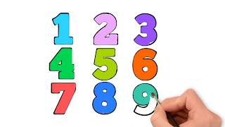 Learn Numbers For Kids - Coloring Pages Numbers - How To Draw Numbers