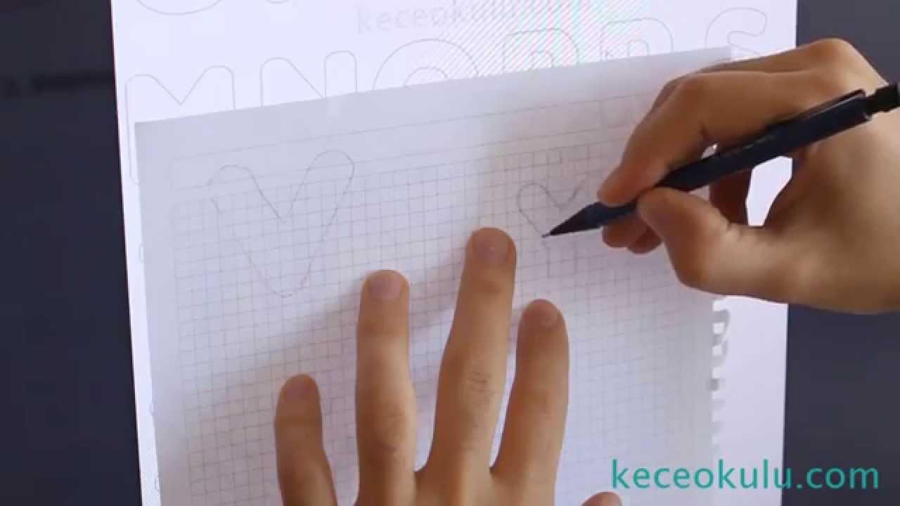 Harf Kaliplari Nasil Cikarilir How To Make Letter Stencils Youtube