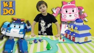 Робокар Поли Станция Спасения Робокара Поли Спуки Попал в беду видео для детей Station Robocar Poli