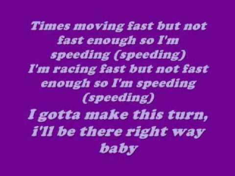 speedin by omarion (lyrics on screen)
