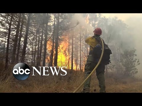 California residents rush to evacuate wildfire