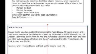 1.1 - IELTS General Writing Task 1