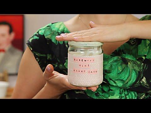 DIY Herbal Shaving Cream
