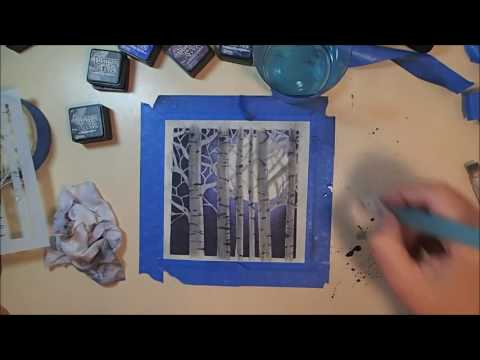Twelve Days of Christmas Cards – Day 11: Distress Ink Forest