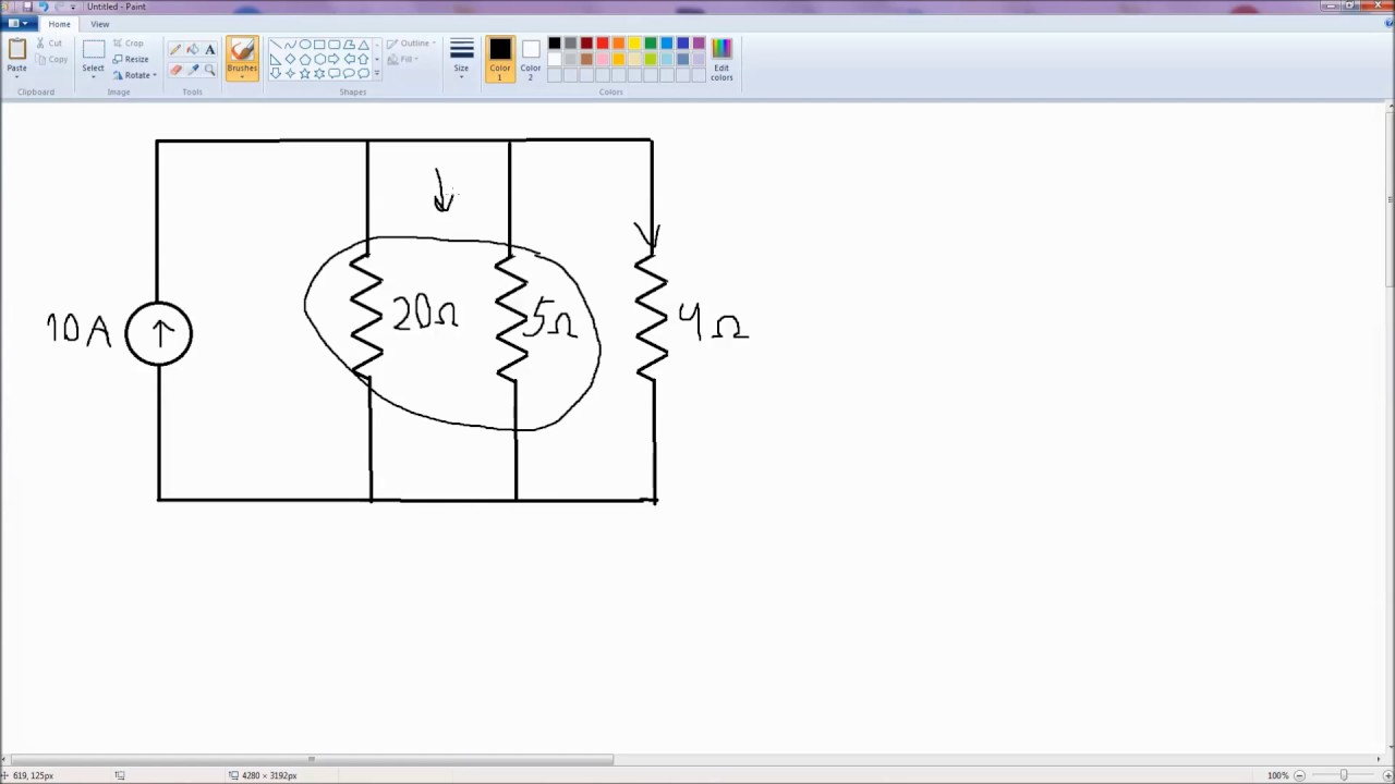 Current Division Download Free Voltage Divider Circuit Diagram Resistors In Parallel Youtube
