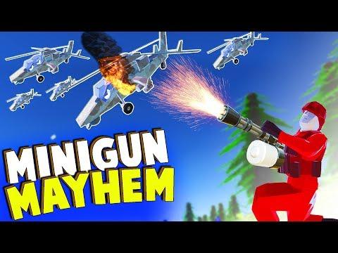 MINIGUN vs 100 Helicopters!  This is Too OP! (Ravenfield Beta Gameplay)