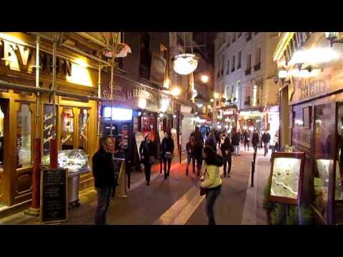 Paris, France in night (latin quarters) April 2014