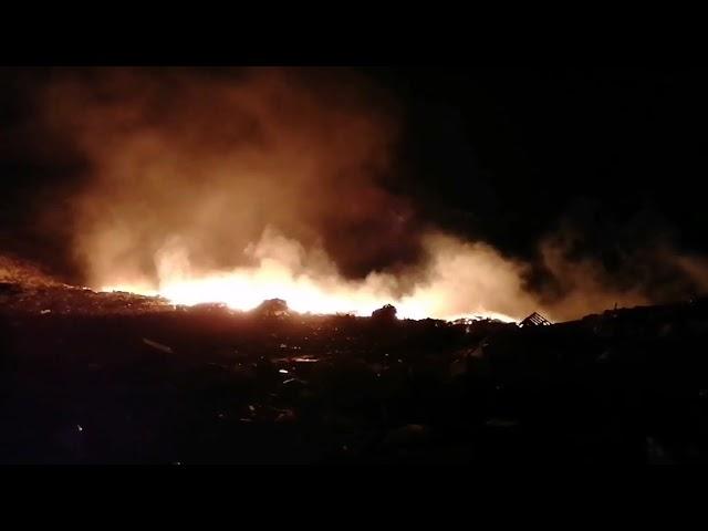 Φωτιά στη Χωματερή Καλύμνου .