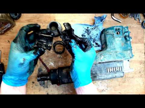 Makita HR5001C sds max rotary hammer drill disassemble and problem find