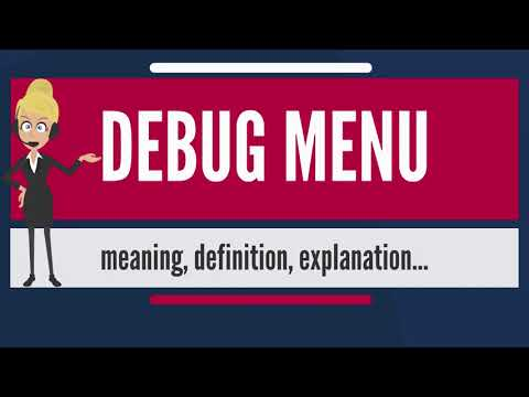 What Is DEBUG MENU? What Does DEBUG MENU Mean? DEBUG MENU Meaning, Definition & Explanation