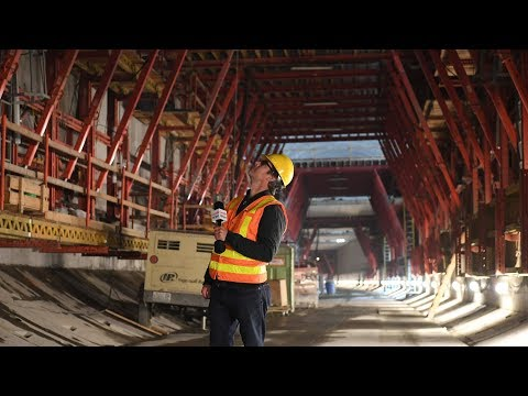 Tour of road construction progress in the gigantic SR 99 Tunnel under Downtown Seattle