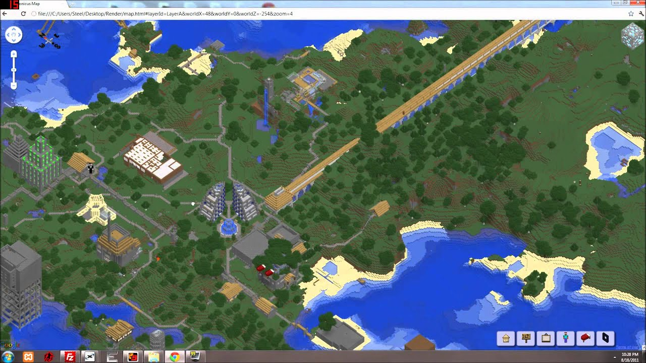 Minecraft map viewer [Tectonicus]   YouTube