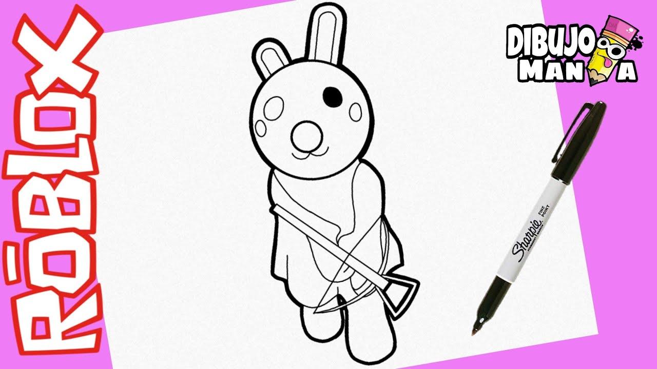 Como Dibujar A Bunny Piggy Roblox Dibujos De Roblox How To