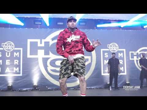 Chris Brown Dancing | Hot 97's Summer Jam 2015