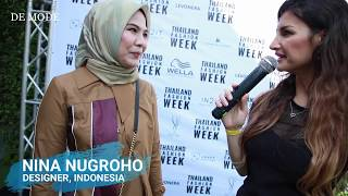 DESIGNER NINA NUGROHO AT THAILAND FASHION WEEK 2019 | EXCLUSIVE INTERVIEW WITH DE MODE