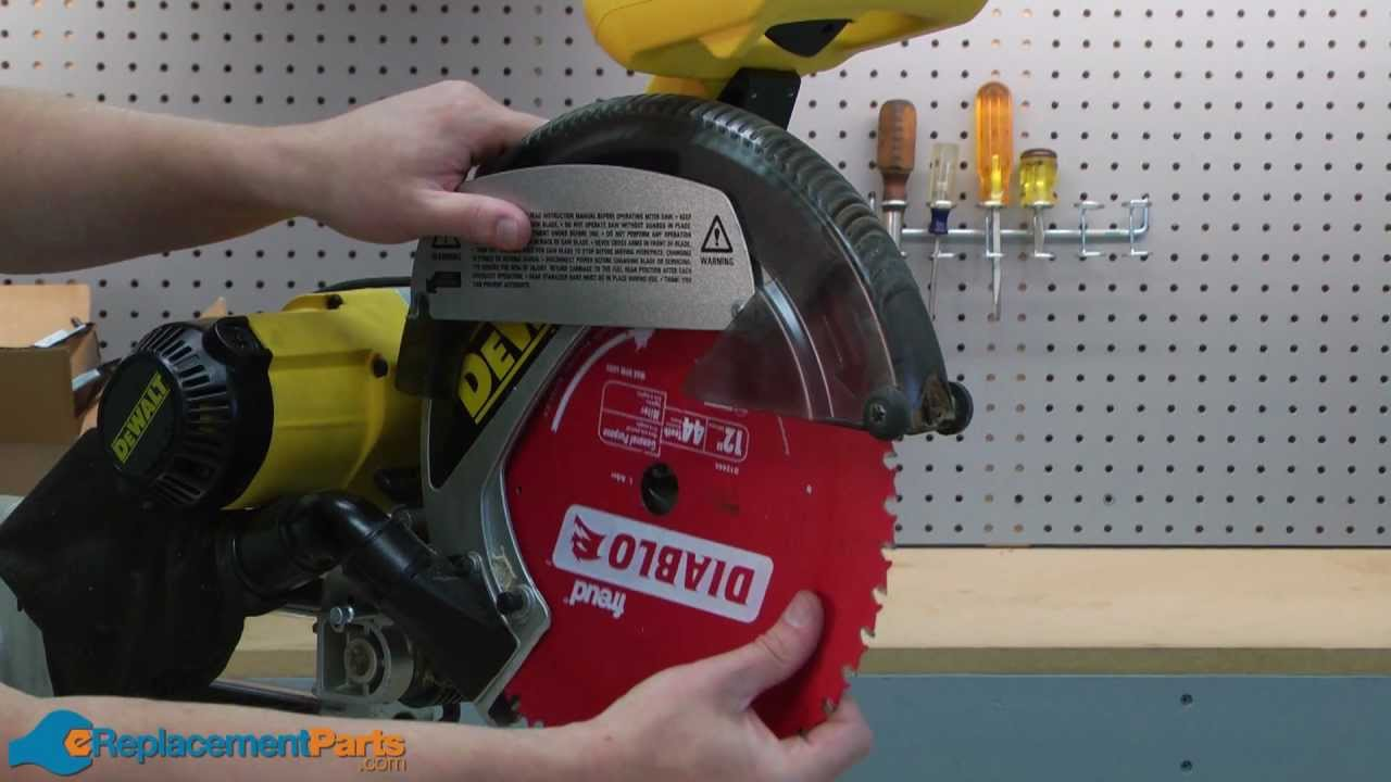 How to replace the guard on a dewalt dw708 miter saw youtube how to replace the guard on a dewalt dw708 miter saw greentooth Gallery