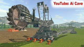 How to operate giant Bucket Wheel Excavator in Farming Simulator 2017 - Mods