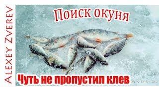 Ловля Окуня зимой. Чуть не ПРОПУСТИЛ КЛЕВ. Зимняя рыбалка.