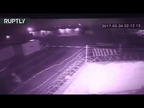CCTV cam: Armed militants launch deadly attack on National Guard base in Chechnya